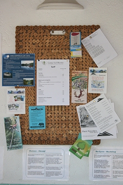 Corking Idea!The finished noticeboard